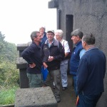 Phil Trayhorn shows FoBL members the observation post